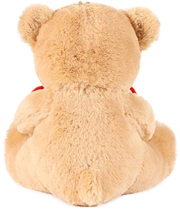 Brubaker Teddy Plüschbär mit Herz Rot - Ich Liebe Dich - 25 cm - Teddybär Plüschteddy Kuscheltier Schmusetier - Braun Hellbraun - 3