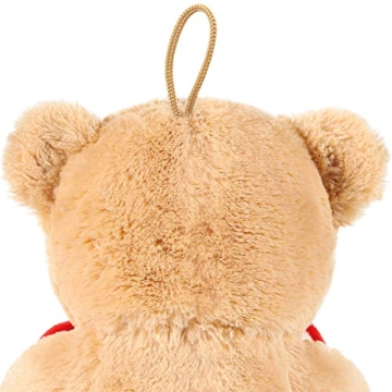 Brubaker Teddy Plüschbär mit Herz Rot - Ich Liebe Dich - 25 cm - Teddybär Plüschteddy Kuscheltier Schmusetier - Braun Hellbraun - 6