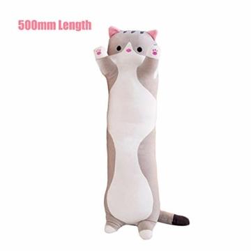 Decdeal Stofftiere Katzen Kissen Kätzchen süße Plüschtier Hautfreundlich ungiftig elastisch es kann Plüschtier Wurfkissen - 5