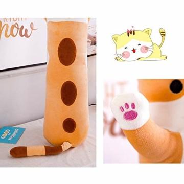 Decdeal Stofftiere Katzen Kissen Kätzchen süße Plüschtier Hautfreundlich ungiftig elastisch es kann Plüschtier Wurfkissen - 7