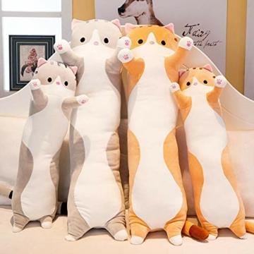 Decdeal Stofftiere Katzen Kissen Kätzchen süße Plüschtier Hautfreundlich ungiftig elastisch es kann Plüschtier Wurfkissen - 8