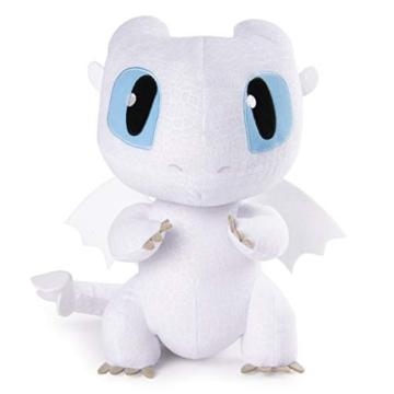 Dragons 6046845 - Movie Line Squeeze und Growl, Plüschfigur mit Sound, Tagschatten (Solid), Drachenzähmen leicht gemacht 3, Die geheime Welt - 3
