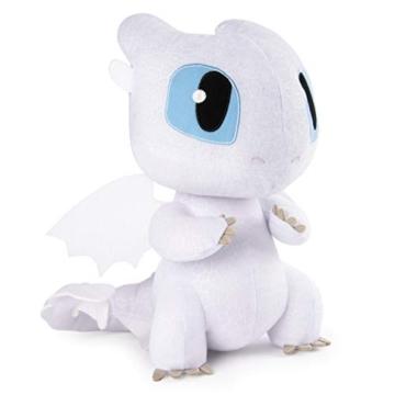 Dragons 6046845 - Movie Line Squeeze und Growl, Plüschfigur mit Sound, Tagschatten (Solid), Drachenzähmen leicht gemacht 3, Die geheime Welt - 4