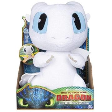 Dragons 6046845 - Movie Line Squeeze und Growl, Plüschfigur mit Sound, Tagschatten (Solid), Drachenzähmen leicht gemacht 3, Die geheime Welt - 1