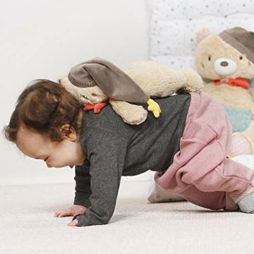 Fehn 060225 Kuscheltier Bär – Weiches Stofftier zum Greifen, Fühlen und Knuddeln – Für Babys und Kleinkinder ab 0+ Monaten – Größe: 25 cm - 2