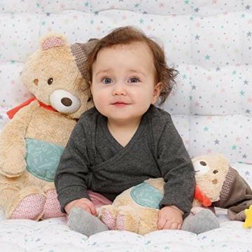 Fehn 060225 Kuscheltier Bär – Weiches Stofftier zum Greifen, Fühlen und Knuddeln – Für Babys und Kleinkinder ab 0+ Monaten – Größe: 25 cm - 4