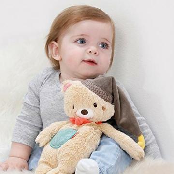 Fehn 060225 Kuscheltier Bär – Weiches Stofftier zum Greifen, Fühlen und Knuddeln – Für Babys und Kleinkinder ab 0+ Monaten – Größe: 25 cm - 5