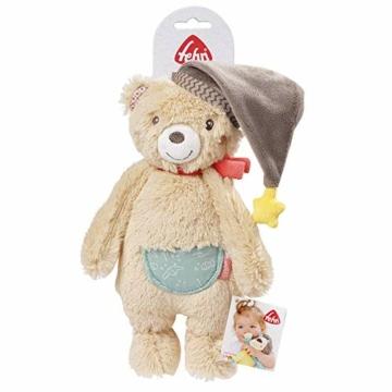 Fehn 060225 Kuscheltier Bär – Weiches Stofftier zum Greifen, Fühlen und Knuddeln – Für Babys und Kleinkinder ab 0+ Monaten – Größe: 25 cm - 7
