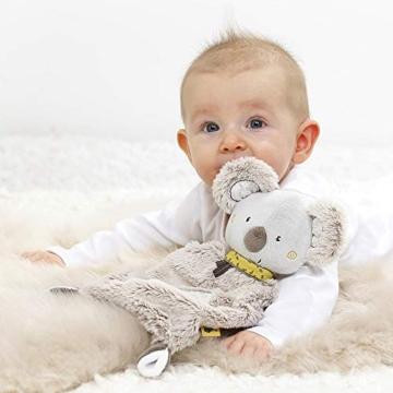 Fehn 064056 Schmusetuch Koala – Schnuffeltuch mit Koala-Köpfchen – Zum Kuscheln für Babys und Kleinkinder ab 0+ Monaten – Maße: 27 cm - 2