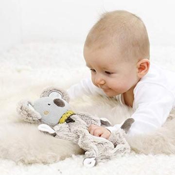 Fehn 064056 Schmusetuch Koala – Schnuffeltuch mit Koala-Köpfchen – Zum Kuscheln für Babys und Kleinkinder ab 0+ Monaten – Maße: 27 cm - 3