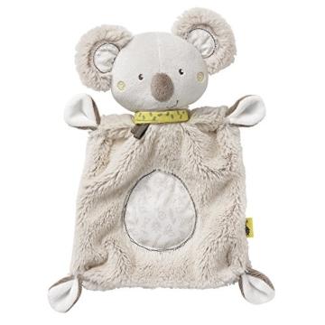 Fehn 064056 Schmusetuch Koala – Schnuffeltuch mit Koala-Köpfchen – Zum Kuscheln für Babys und Kleinkinder ab 0+ Monaten – Maße: 27 cm - 1