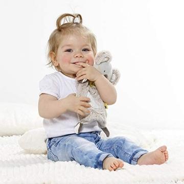 Fehn 064056 Schmusetuch Koala – Schnuffeltuch mit Koala-Köpfchen – Zum Kuscheln für Babys und Kleinkinder ab 0+ Monaten – Maße: 27 cm - 5