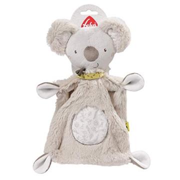 Fehn 064056 Schmusetuch Koala – Schnuffeltuch mit Koala-Köpfchen – Zum Kuscheln für Babys und Kleinkinder ab 0+ Monaten – Maße: 27 cm - 6