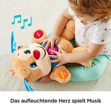 Fisher-Price FPM50 - Lernspaß Hündchen Baby Spielzeug und Plüschtier, Lernspielzeug mit Liedern und Sätzen, mitwachsende Spielstufen, Spielzeug ab 6 Monaten, deutschsprachig - 3