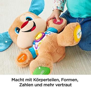 Fisher-Price FPM50 - Lernspaß Hündchen Baby Spielzeug und Plüschtier, Lernspielzeug mit Liedern und Sätzen, mitwachsende Spielstufen, Spielzeug ab 6 Monaten, deutschsprachig - 4