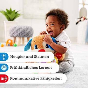 Fisher-Price FPM50 - Lernspaß Hündchen Baby Spielzeug und Plüschtier, Lernspielzeug mit Liedern und Sätzen, mitwachsende Spielstufen, Spielzeug ab 6 Monaten, deutschsprachig - 6