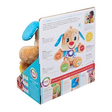 Fisher-Price FPM50 - Lernspaß Hündchen Baby Spielzeug und Plüschtier, Lernspielzeug mit Liedern und Sätzen, mitwachsende Spielstufen, Spielzeug ab 6 Monaten, deutschsprachig - 8