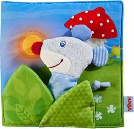 HABA 304211 - Stoffbuch Gute Nacht, viel Erzählspaß für Babys ab 6 Monaten, inklusive Maus als Fingerfigur, prima Geschenk zur Geburt und Taufe - 1