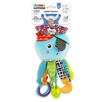 Lamaze Baby Spielzeug Captain Calamari, die Piratenkrake Clip & Go - hochwertiges Kleinkindspielzeug - Greifling Anhänger zur Stärkung der Eltern-Kind-Bindung - ab 0 Monate - 6