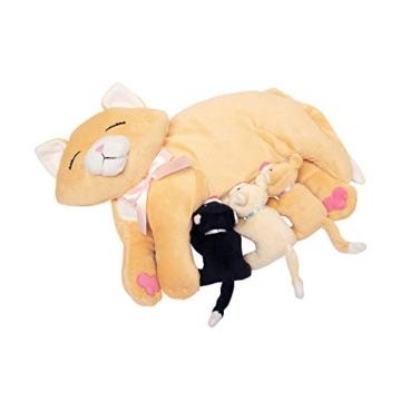Manhattan Toy Nursing Nina Cat, die weiches Spielzeug pflegt - 1