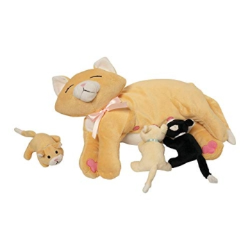 Manhattan Toy Nursing Nina Cat, die weiches Spielzeug pflegt - 2