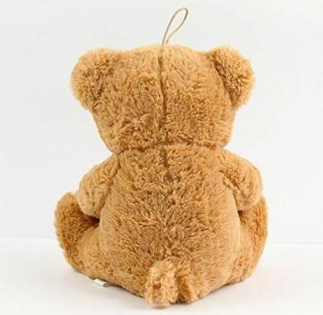matches21 Teddy Teddybär Plüschbär mit rotem Herz Ich Liebe Dich 35 cm Plüschteddy Kuscheltier Schmusetier braun beige Hellbraun - 5