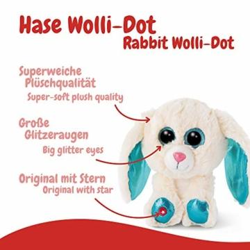 NICI 46617 Glubschis Kuscheltier Hase Wolli-Dot 15cm, Flauschiges Plüschtier mit großen Glitzeraugen, süßes Stofftier für Kinder und Kuscheltierliebhaber - 2