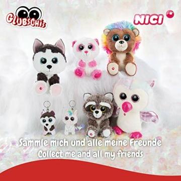 NICI 46617 Glubschis Kuscheltier Hase Wolli-Dot 15cm, Flauschiges Plüschtier mit großen Glitzeraugen, süßes Stofftier für Kinder und Kuscheltierliebhaber - 4