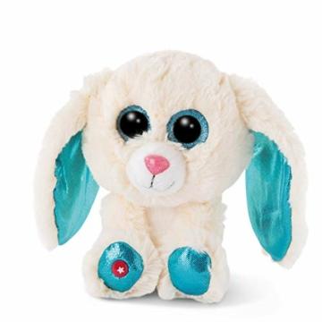 NICI 46617 Glubschis Kuscheltier Hase Wolli-Dot 15cm, Flauschiges Plüschtier mit großen Glitzeraugen, süßes Stofftier für Kinder und Kuscheltierliebhaber - 1