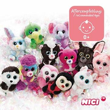 NICI 46617 Glubschis Kuscheltier Hase Wolli-Dot 15cm, Flauschiges Plüschtier mit großen Glitzeraugen, süßes Stofftier für Kinder und Kuscheltierliebhaber - 5