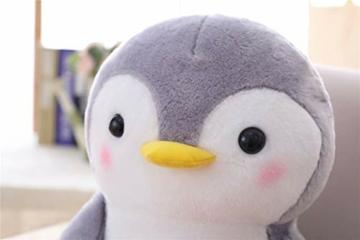 Nicole Knupfer Pinguin Stofftier Plüschtier, Pinguin Kuscheltier Tier Kissen Geschenk Für Kinder/Erwachsene (Pinguin mit Schleife,25 cm) - 3