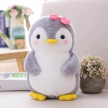 Nicole Knupfer Pinguin Stofftier Plüschtier, Pinguin Kuscheltier Tier Kissen Geschenk Für Kinder/Erwachsene (Pinguin mit Schleife,25 cm) - 1