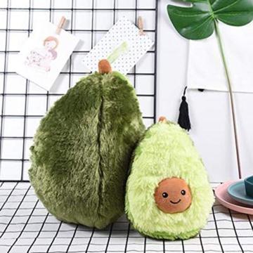 RAINBEAN Nette Avocado Plüsch Mehrere Größen Komfort Lebensmittel Kissen Spielzeug Weiche Frucht Gefüllte Kissen Squeeze Toy Dekoration für Schlafzimmer Wohnzimmer - 2