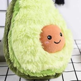 RAINBEAN Nette Avocado Plüsch Mehrere Größen Komfort Lebensmittel Kissen Spielzeug Weiche Frucht Gefüllte Kissen Squeeze Toy Dekoration für Schlafzimmer Wohnzimmer - 1