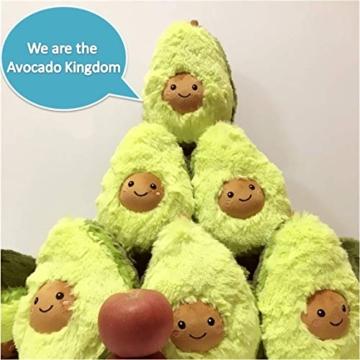 RAINBEAN Nette Avocado Plüsch Mehrere Größen Komfort Lebensmittel Kissen Spielzeug Weiche Frucht Gefüllte Kissen Squeeze Toy Dekoration für Schlafzimmer Wohnzimmer - 5