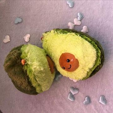 RAINBEAN Nette Avocado Plüsch Mehrere Größen Komfort Lebensmittel Kissen Spielzeug Weiche Frucht Gefüllte Kissen Squeeze Toy Dekoration für Schlafzimmer Wohnzimmer - 8