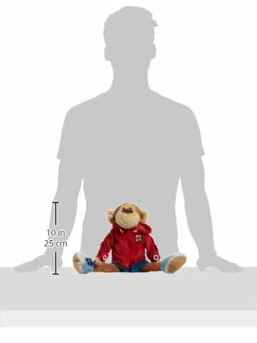 Sigikid 40989 - Mädchen und Jungen, Stofftier Lern-Affe, Spielerisch An Ausziehen lernen, rot/dunkelblau - 11