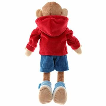 Sigikid 40989 - Mädchen und Jungen, Stofftier Lern-Affe, Spielerisch An Ausziehen lernen, rot/dunkelblau - 6