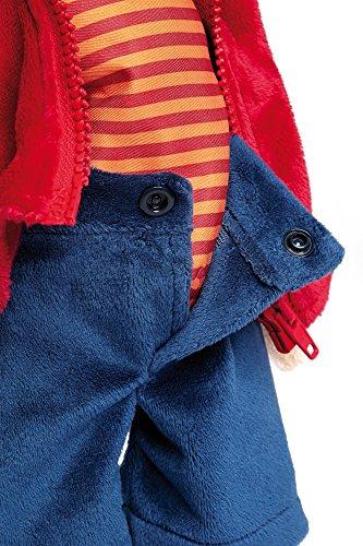 Sigikid 40989 - Mädchen und Jungen, Stofftier Lern-Affe, Spielerisch An Ausziehen lernen, rot/dunkelblau - 7