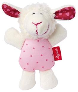 sigikid, Mädchen, Greifling und Rassel Schaf, Weiß/Rosa, 41189 - 1