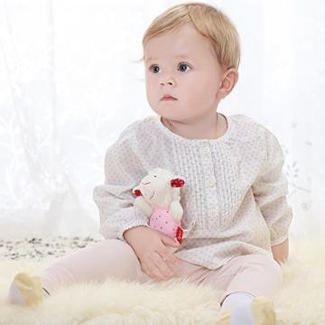 sigikid, Mädchen, Greifling und Rassel Schaf, Weiß/Rosa, 41189 - 2