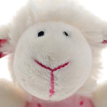 sigikid, Mädchen, Greifling und Rassel Schaf, Weiß/Rosa, 41189 - 5