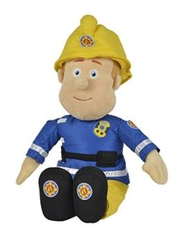 Simba 109252112 - Feuerwehrmann Sam Plüschfigur mit Helm 45 cm - 1