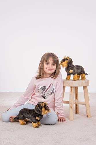 Teddy Hermann 91923 Hund Rauhaardackel 28 cm, Kuscheltier, Plüschtier - 3