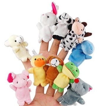 Tinksky Cartoon Fingerpuppen weiches Samt-Puppen-Small Props Toys - 1