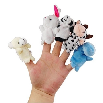 Tinksky Cartoon Fingerpuppen weiches Samt-Puppen-Small Props Toys - 2