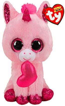 TY- Beanie Boo's-Darling das Einhorn, 15 cm, TY36685, Mehrfarbig - 1