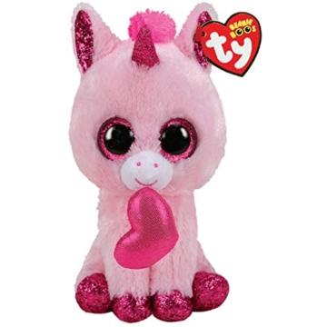TY- Beanie Boo's-Darling das Einhorn, 15 cm, TY36685, Mehrfarbig -