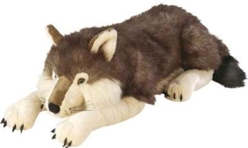 Wild Republic 82332 - Floppies, Wolf, 76 cm - Kuscheltier aus Plüsch - 1
