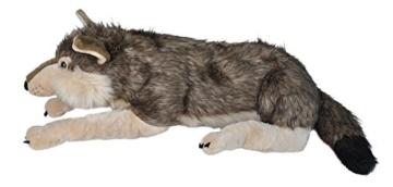 Wild Republic 82332 - Floppies, Wolf, 76 cm - Kuscheltier aus Plüsch - 4